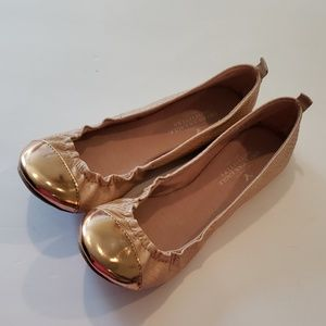 American Eagle rose gold tipped pink flats